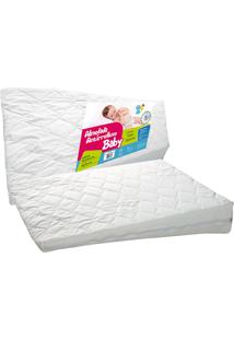 Travesseiro Fibrasca Antirrefluxo Para Berço Grande 60X83X15Cm Branco