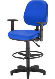 Cadeira Corporate Executiva Cor Azul Com Base Caixa - 43995 - Sun House