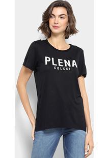 Camiseta Colcci Estampada Feminina - Feminino-Preto 5c813df6dcc