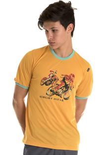 Camisa Konciny Decote Redondo Amarelo.