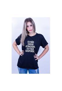 Camiseta Bilhan Corte A Fio Atrasado Preta