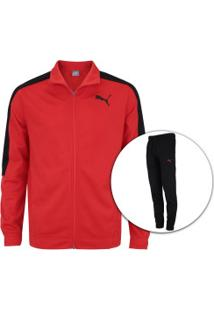 a69138a65a715 Agasalho Puma Classic Tricot Suit Cl - Masculino - Vermelho Preto