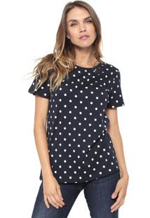 Camiseta Banana Republic Polka Dots Azul-Marinho