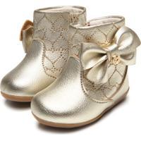 130eb59c44f8f5 Bota Para Menina Dourada Klin infantil | Shoes4you