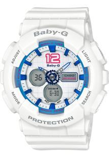 Relógio Feminino Casio G-Shock Baby-G Analógico Digital Ba-120-7Bdr Branco