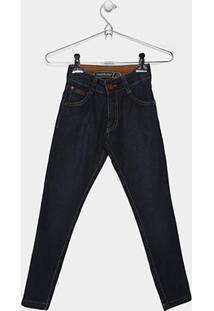 Calça Jeans Infantil Freesurf Básica Masculina - Masculino-Marinho