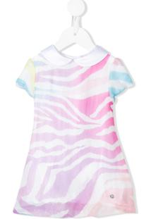 Roberto Cavalli Junior Vestido Animal Print - Rosa