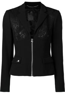 Philipp Plein Lace Panel Jacket - Preto