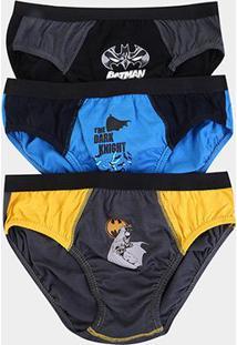 39c6dc4bc3120f Kit De Cuecas Infantil Lupo Slip Estampa Batman 3 Peças - Masculino