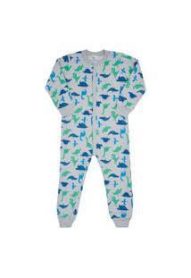 Macacão Pijama Rotativo Mescla Cinza - Infantil - Menino 4 45164-1053 Macacão Pijama Cinza - Infantil Menino Moletinho Ref:45164-1053-4