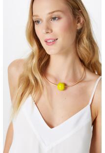 Gargantilha Murano Amarelo-Yellow Yolk - U