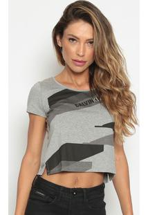"""Camiseta Em Mescla """"Calvin Kleinâ®"""" - Cinzacalvin Klein"""