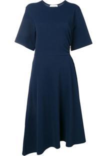 See By Chloé Cut-Out Midi Dress - Azul