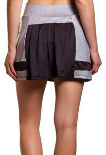 Shorts Saia Em Tecido Air Dry Cinza It Walk