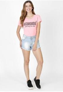Camiseta Feminina Acordada Pink - Feminino