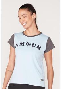 Camiseta Onbongo Estampada Feminina - Feminino-Azul