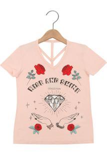 Camiseta Colcci Fun Shine Coral