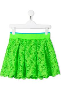 Alberta Ferretti Kids Saia Com Renda - Verde
