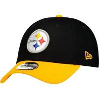 Boné New Era Nfl Pittsburgh Steelers 940 Preto E Amarelo 97d84d7745e