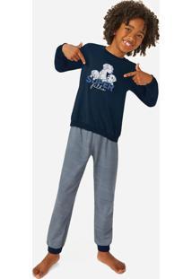 Pijama Azul Marinho Super Filho