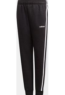 Calça Moletom Infantil Adidas Yb 3S Pt Masculina - Masculino-Preto+Branco