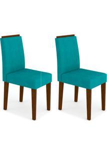 Conjunto Com 2 Cadeiras Ana Castanho E Turquesa