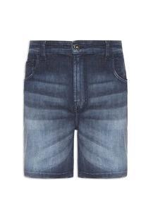 Bermuda Masculina Jeans Kyoto Elastic Ii Loose Recorte Pala - Azul