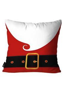 Capa Para Almofada Mdecore Cinto Papai Noel Vermelho 35X35
