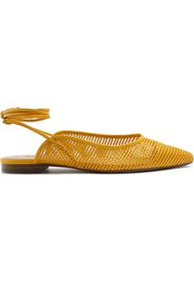 Sapatilha Tressê Amarração Amarela | Anacapri