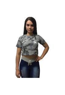 Camiseta Cropped Skate Eterno S/E Camuflada