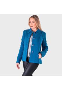 Casaco De Lã Monacri Azul