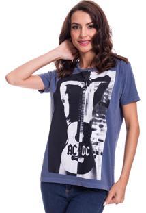 Camiseta Jazz Brasil Ac/Dc Azul