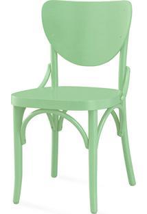 Cadeira De Madeira Moderna Eléonore Laca Verde Sálvia- 44X49,5X82,5 Cm