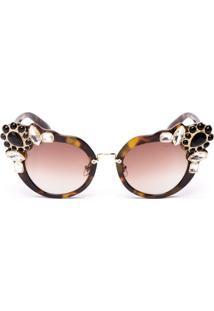 Óculos De Sol Com Pedraria