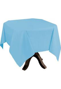 Toalha De Mesa Impermeável Azul 1,40X1,40