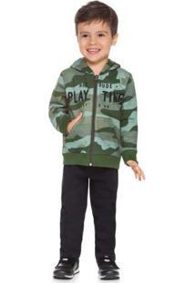 Conjunto Jaqueta E Calça Verde