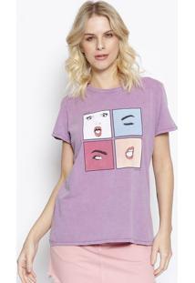 Camiseta ''Mood'' - Roxa & Azul - Colccicolcci