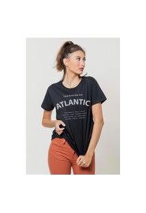 Camiseta Jay Jay Básica Atlantic Soul Preta