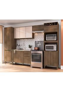 Cozinha Compacta Áustria 11 Pt 3 Gv Marrom