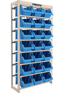 Estante Com 21 Gavetas Presto 21/7 8014A, Azul