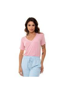 Camiseta Aura Básica Rosa