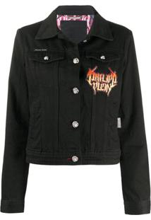 Philipp Plein Cropped Denim Jacket - Preto