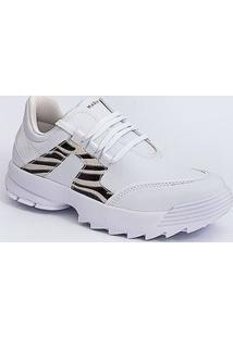Tênis Feminino Sneaker Tratorado Recorte Ramarim