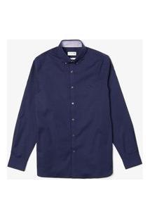 Camisa Lacoste Slim Fit Azul