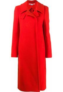 Stella Mccartney Casaco Com Abotoamento Simples - Vermelho