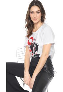Camiseta Carmim Copas Branca