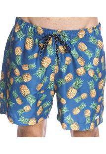 Bermuda Long Island Pineapple Masculina - Masculino-Azul