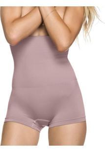 Calcinha Modeladora Zee Rucci Boxer Alta Sem Costura Rose