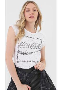 Camiseta Coca-Cola Jeans Floral Branca - Branco - Feminino - Algodã£O - Dafiti