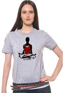 Camiseta Feminina Joss - Yogga Collection - Feminino-Mescla